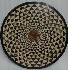 "48"" Round Black Marble Table Top Pietra dura Inlay Arts Furniture Decor"
