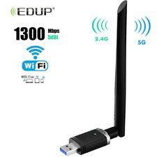 EDUP Dual Band AC1300Mbps USB 3.0 Wifi Adapter 5Ghz/2.4Ghz For Mac Desktop PC