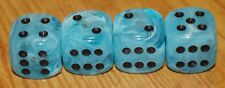 DUDDS DICE ICE BLUE SWIRL w/BLACK  VALVE STEM CAPS (4 PACK) FITS FORD, CHEVY #3