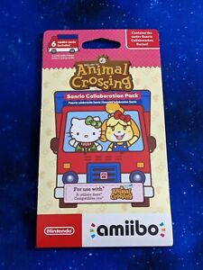 Animal Crossing Sanrio Collab Hello Kitty Amiibo Card Pack - 6 Cards 🇨🇦