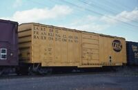 LAKE ERIE FRANKLIN & CLARION Railroad Boxcar Ft Edwards Original Photo Slide