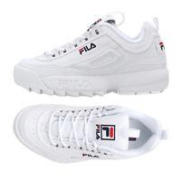 New Original FILA Men's Disruptor II 2 Shoes Sneakers- White(FS1HTA1071X)