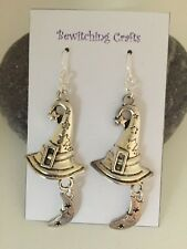 Large Witches Hat Earrings Witch Halloween Gift Party Pagan Gothic Moon Crazy