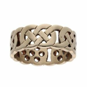 Mens - 9ct Yellow Gold Celtic Ring - T