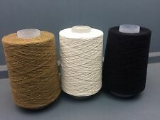 3x200G CONES 60% SILK 40% LINEN 1/15NM FINE YARN BLACK, BROWN, ECRU