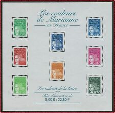 2001 FRANCE BLOC N°42** LES COULEURS DE MARIANNE / France 2001 SHEET MNH
