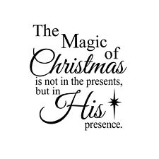 Magic of Christmas - His presence Unmounted Rubber Stamp Religious Christmas #26