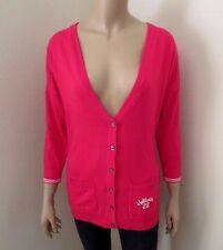 NWT Hollister Womens Cardigan Sweater Size Large Top Shirt Hot Pink 3/4 Sleeve