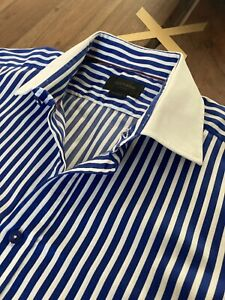"Duchamp London Striped Shirt 17"" Collar"