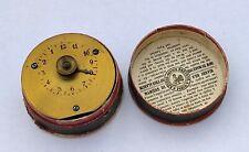 Redier Réveil de voyage en laiton doré XIX 19eme Antique French alarm clock