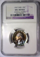 1967 SMS Washington Quarter Color Toned NGC UNC