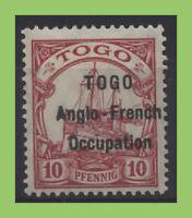 Togo 1914 KGV 10pf overprint hinged, sg H3