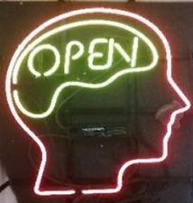"Open Mind Neon Light Sign Lamp Beer Pub 20""x16"" Artwork Glass Decor Bar Artwork"
