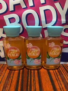 3 BATH & BODY WORKS TRAVEL FRAGRANCE Shower Gel Pretty as a Peach 3 OZ NEW