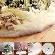 Christmas Tree 80cm Long Snow Plush Skirt Base Floor Mat Cover XMAS Party Decor