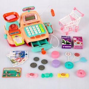 Kids Christmas Present Toy Till Cash Register Toy Scanner Supermarket Speaker