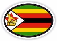 ZIMBABWE Flag oval STICKER bumper decal car helmet laptop