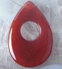 55mm Design Carnelain Agate Teardrop Pendant Bead
