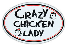 Oval Auto Magnet - Crazy Huhn Lady - Magnetischer Stoßstangen Aufkleber