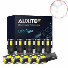 10x Auxito T10 Led License Plate Light Car Interior Bulbs White 168 2825 194 W5w