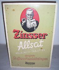 Old Cardboard/Pappaufsteller Zinsser Allsat Garlic Tablets to 1940