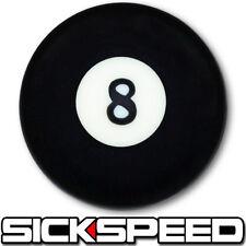 BLACK 8 BALL SHIFT KNOB FOR HURST SHORT THROW GEAR SHIFTER SELECTOR 3/8X16 K23