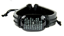 4030581 Jeremiah 29:11 Scripture Leather Bracelet Bible Verse For I Know The