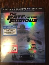 Fast 8 Fate of the Furious Limited Edition Blu-Ray + DVD + Digital SEALED + Slip