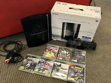 Sony Playstation 3 80GB Black Console (top condition) + Controller + Games