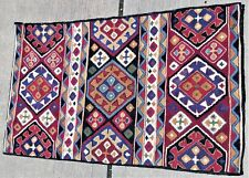 rug 29x46 in embroidered geometric oriental rug design