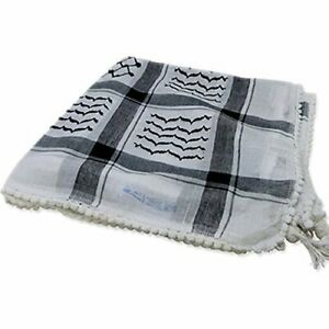 Black and White Checkered Middle East Keffiyeh Palestinian Islamic Head Scarf