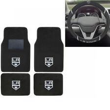 New NHL Los Angeles LA Kings Car Truck Carpet Floor Mats & Steering Wheel Cover