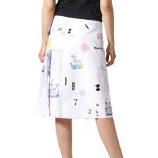 Adidas Women's Sz M Originals Info Poster Pleated Skirt CF1157