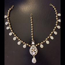 Rhinestone Matha Patti Wedding Bridal Goddess Bohemian Boho Grecian Head Chain