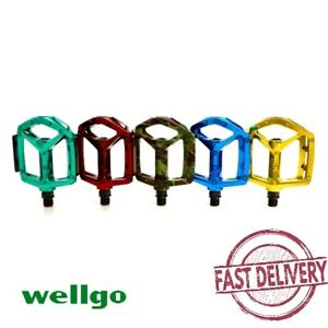 "Wellgo MG-3 Fixed Pin Glossy Bike Pedal for MTB BMX DH Platform 9/16"" Pedal"