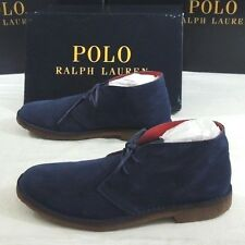 295 Polo Ralph Lauren Michael Lagoon Suede Spain Leather Chukka Boots Shoes 10.5