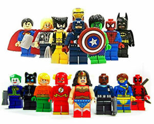 16PC Marvel Avengers DC Super Hero Mini Figure Set Fits
