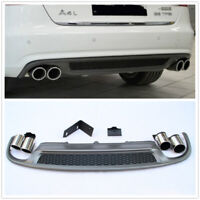 S-Line S4 Style Rear Diffuser & Exhaust Tip For 2013-16 Audi A4 B8.5 Sedan MA