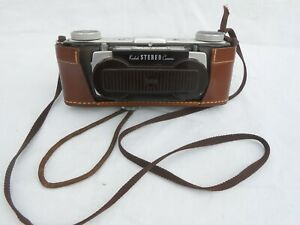 Vintage Kodak Stereo Camera with Field Leather Case