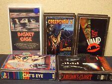RARE Horror Beta tape lot Basket Case Creepshow 2 Cat's Eye cut covers