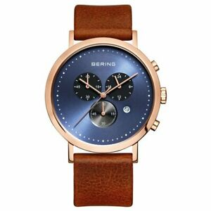 Bering Men's Wristwatch Classic Chronograph - 10540-467-1 Leather