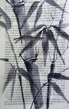 Akimova: BAMBOO, original, ink,  watercolor, Chinese brush
