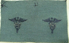 US ARMY BADGE OFFICER MEDICAL SERVICE CAMO BDU SUBDUED OLIVE DRAB EMBROIDERED