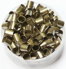 Vintage Brass Tube Spacer Beads Hole Size 4 Mm, Length 5 Mm,Pkg. Of 100, Brass