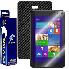 ArmorSuit MilitaryShield Dell Venue 8 Pro Screen + Black Carbon Fiber Skin! NEW!