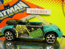 htf Batman 2010 MATCHBOX Gorilla Grodd∞VW CONCEPT 1 BEETLE∞Teal Green∞New LOOSE