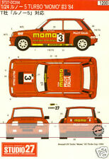 STUDIO 27 MOMO DECAL TAMIYA 1/24 RENAULT R5 TURBO 1984