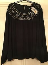 MARKS & SPENCER, NEW with tags Ladies Sequin Loose Fitting Top, size 16