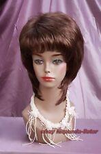 Haute qualité! Mode femmes dames Brun court droit sain Cosplay cheveux perruques