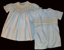 Brother and Sister - Hand Smocked - Matching Suit _022